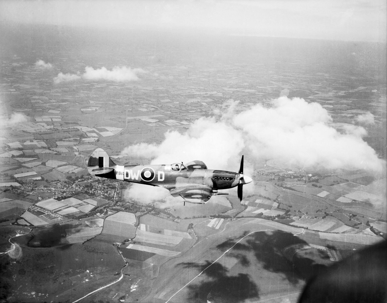 Spitfire XIV RAF 610Sqn DWD RB159 Sqn Ldr RA Newbury based at Friston Sussex 01