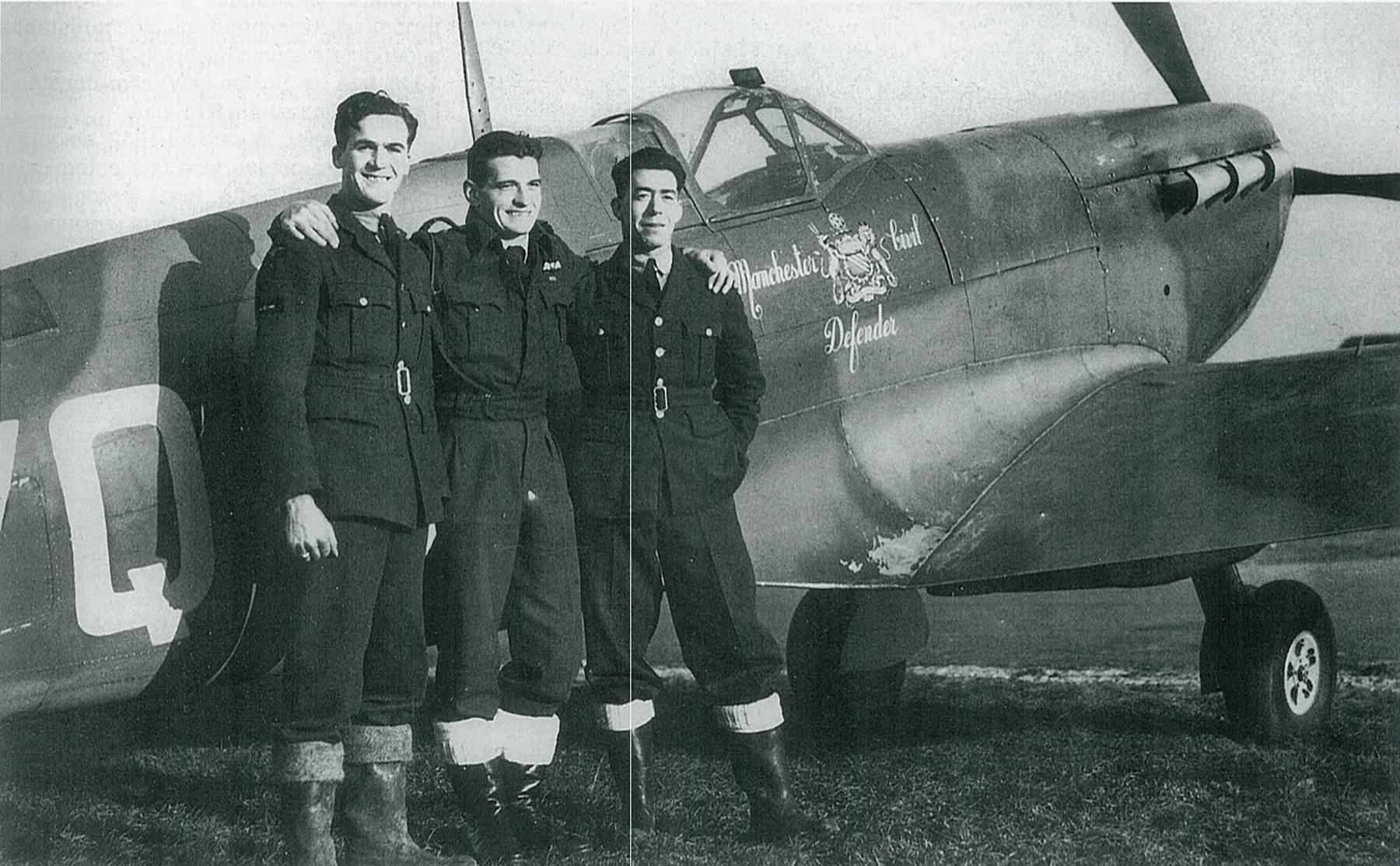 Spitfire MkVb RAF 616Sqn YQQ AA879 Operation Jubilee Jan 1942 01