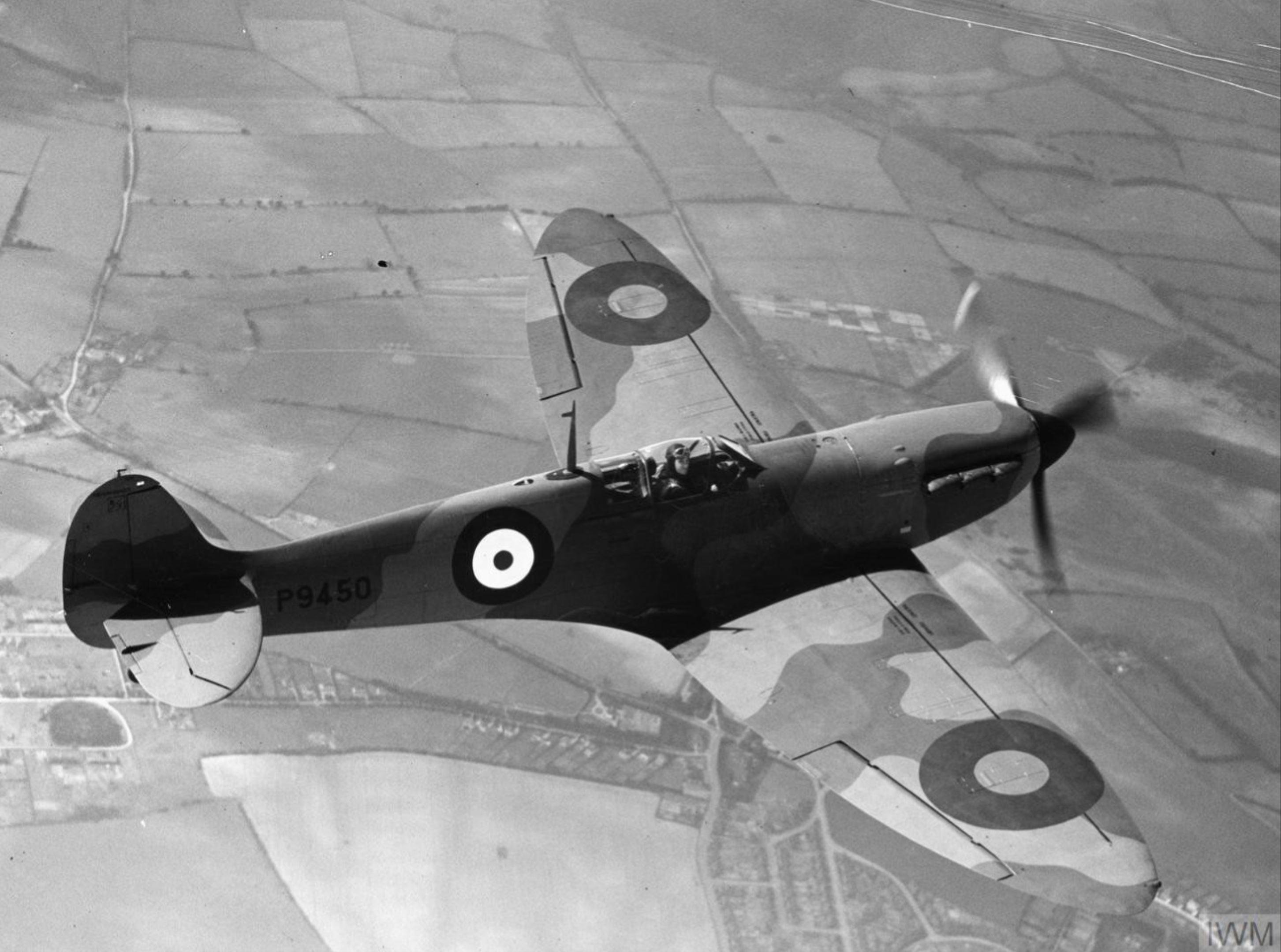 Spitfire MkI factory fresh P9450 Apr 1940 later RAF 64Sqn IWM HU103970