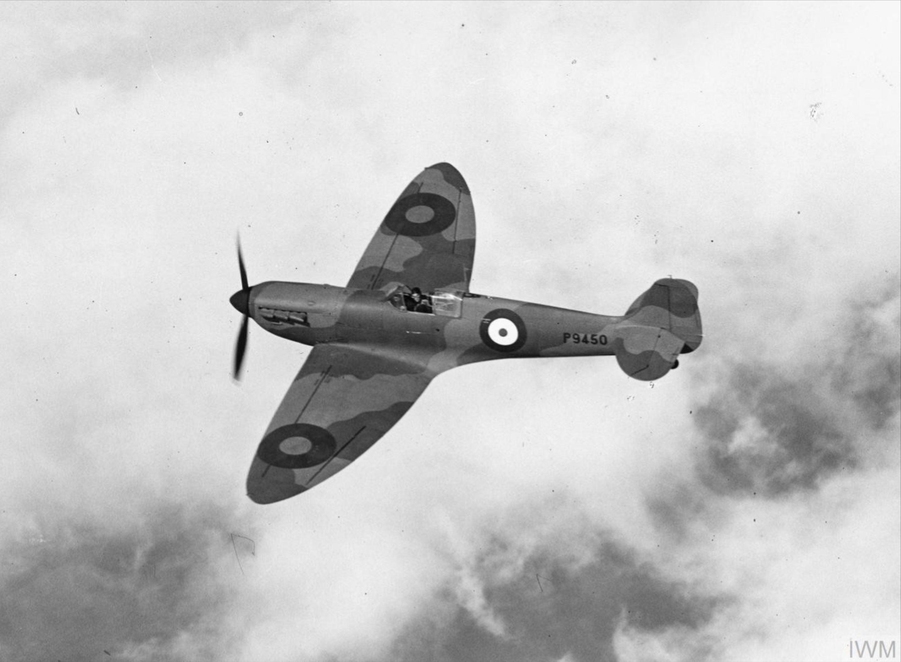 Spitfire MkI factory fresh P9450 Apr 1940 later RAF 64Sqn IWM HU104746