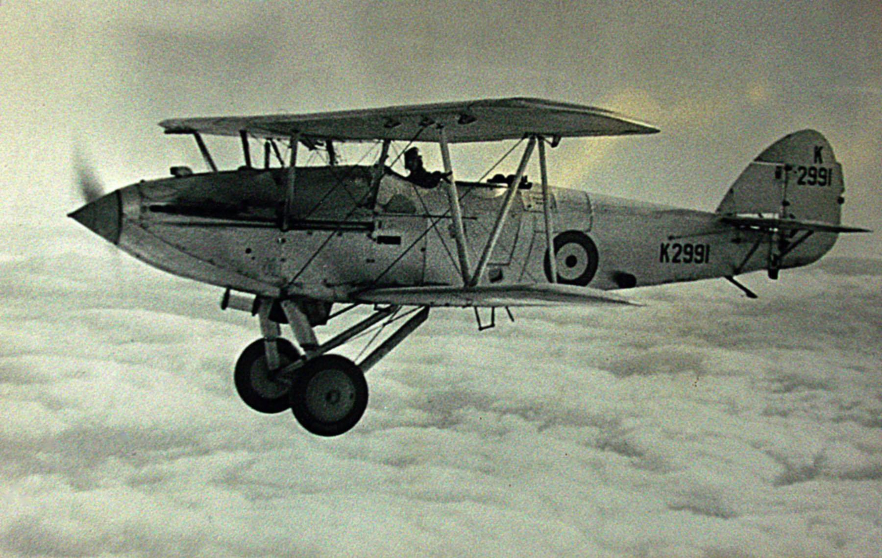 Hawker Hart I RAF K2991 trainer photo taken by Patrick Hayes KIA July 7 1940 01