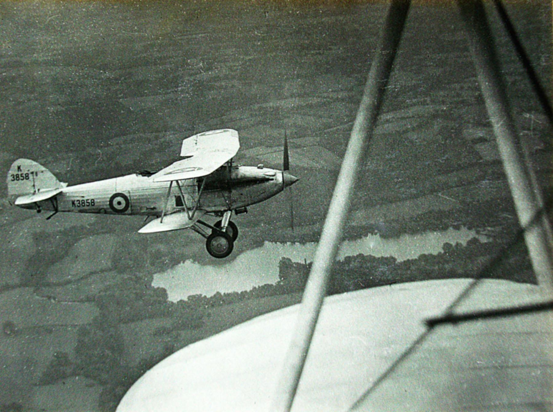 Hawker Hart I RAF K3858 trainer photo taken by Patrick Hayes KIA July 7 1940 01