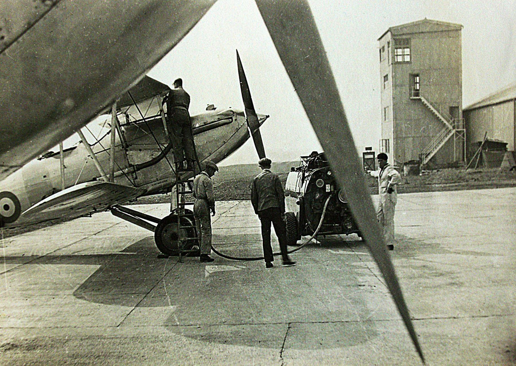 Hawker Hart T RAF trainer refueling photo taken by Patrick Hayes KIA July 7 1940 01