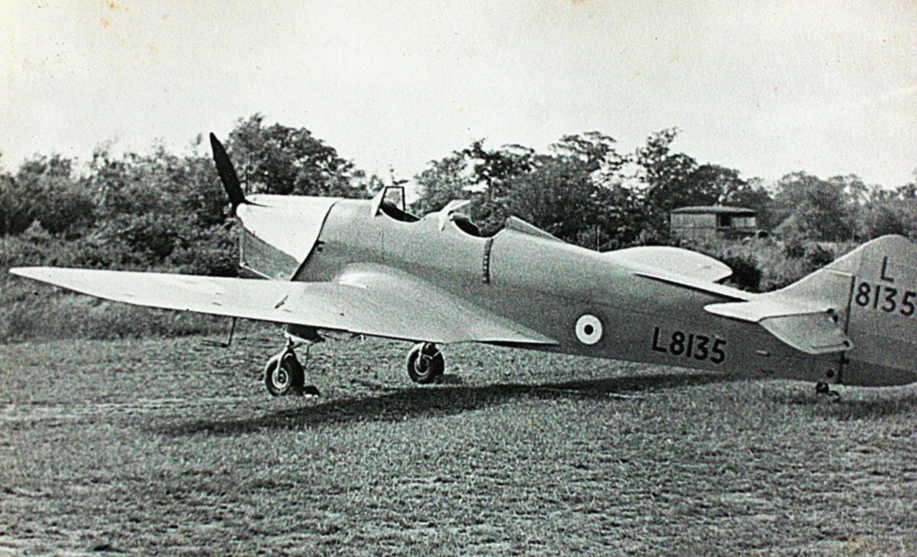 Mills Magister RAF L8135 trainer photo taken by Patrick Hayes KIA July 7 1940 01