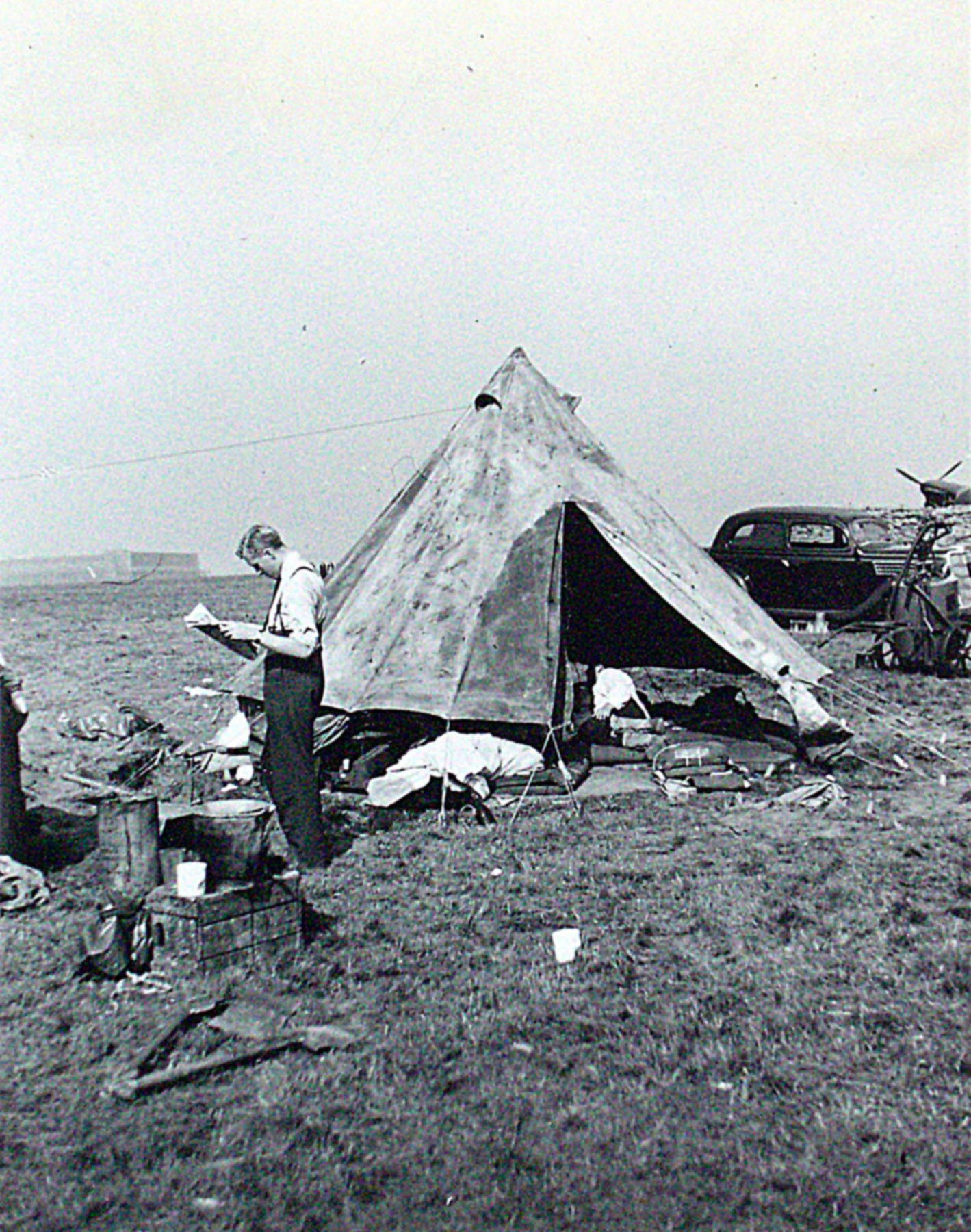 RAF Hornchurch 65Sqn digs photo taken by Patrick Hayes KIA July 7 1940 02