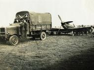 Asisbiz Spitfire MkIa RAF 65Sqn with damaged right undercarriage photo taken by Patrick Hayes KIA July 7 1940 02