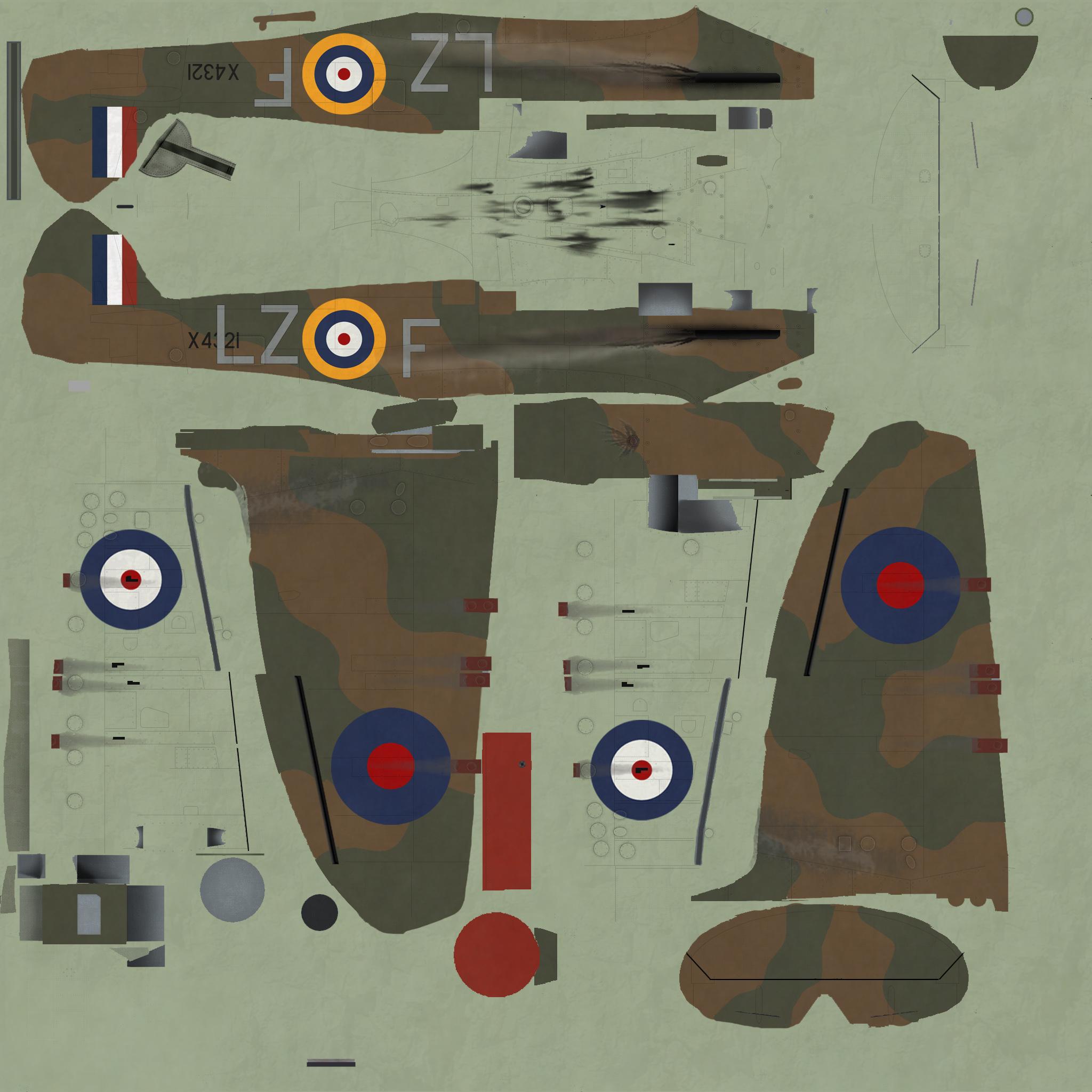 COD KF MkIa RAF 66Sqn LZF PO Crelin Bodie X4321 Kenley 1940