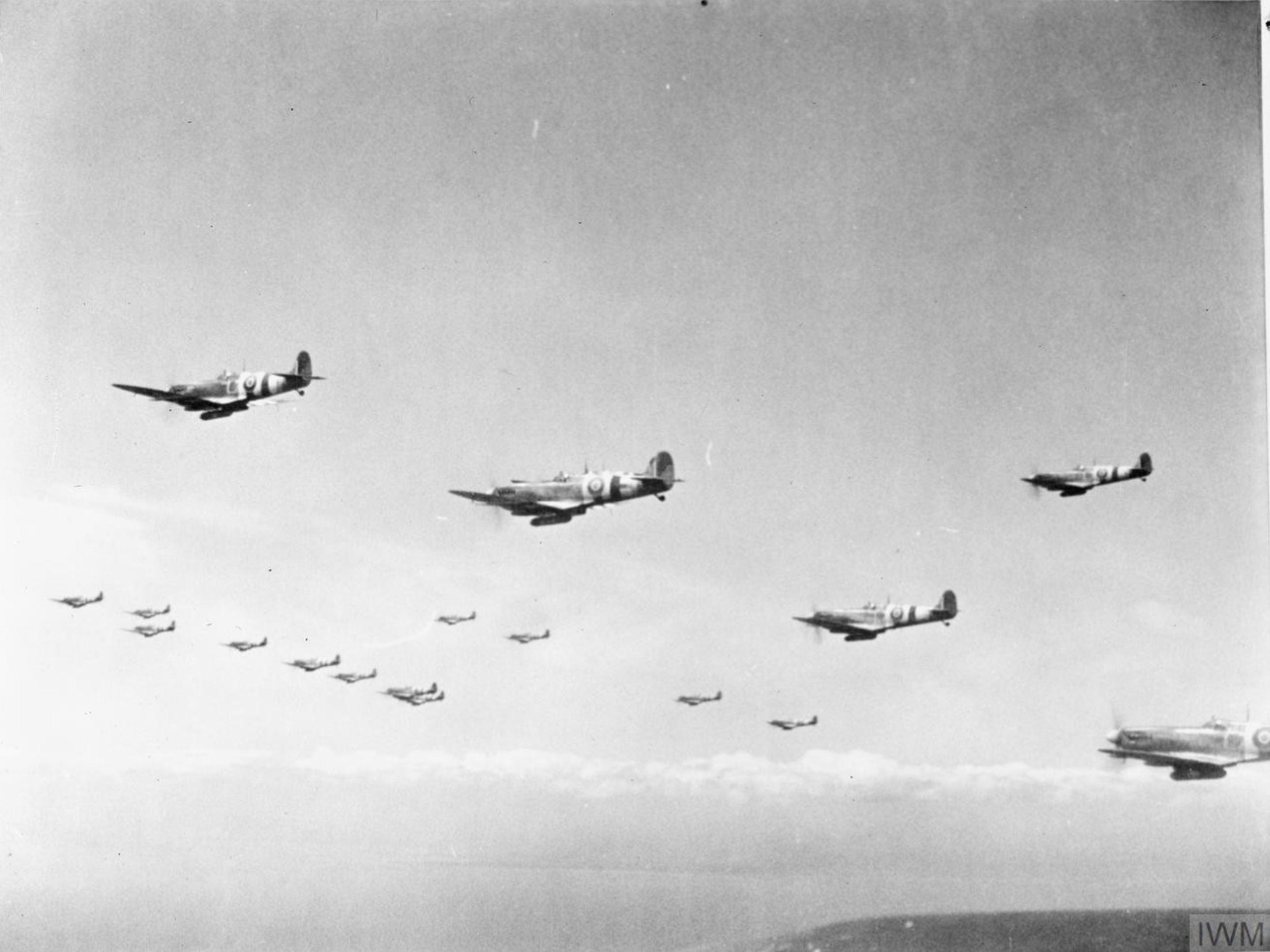 Spitfire MkIXs RAF 66Sqn based at Bognor Regis Sussex 1944 IWM CL108