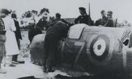 Asisbiz Spitfire RAF 66Sqn LZP Stevens P7787 sd by JG52 nr Groede 1POW 12th Aug 1941 NIOD