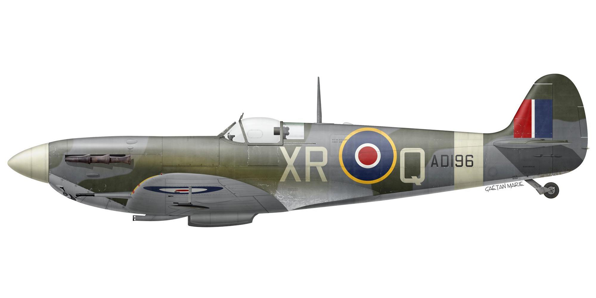 Spitfire MkVb RAF 71Sqn XRQ Frank Zavakos AD196 North Weald 1941 0A
