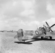 Asisbiz Spitfire MkVc RAF 72Sqn RNO JK171 taking off at Anzio Italy IWM NA14065