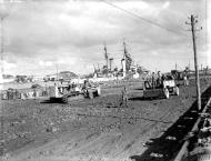 Asisbiz RAF 81Sqn covered HMS Argonaut when moored at Bone Harbour Algeria Nov 1942 IWM