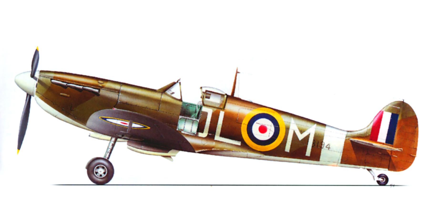 Spitfire MkIIa RAF 91Sqn DLM Sgt Donald McKay P8194 Hawkinge April 1941 0A