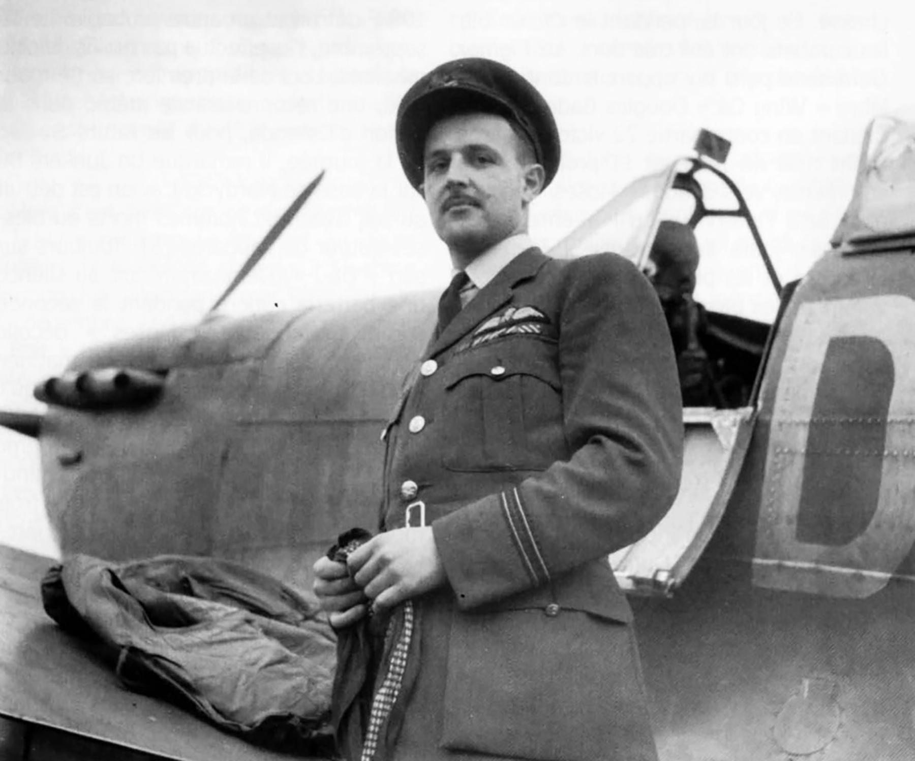 Spitfire MkVb RAF 91Sqn DL Jean Demozay next to W3175 SL HD Cooke aircraft Hawkinge 1941 01