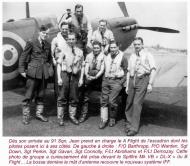 Asisbiz Aircrew RAF 91Sqn Jean Demozay and pilots next to Spitfire Vb DL X 01