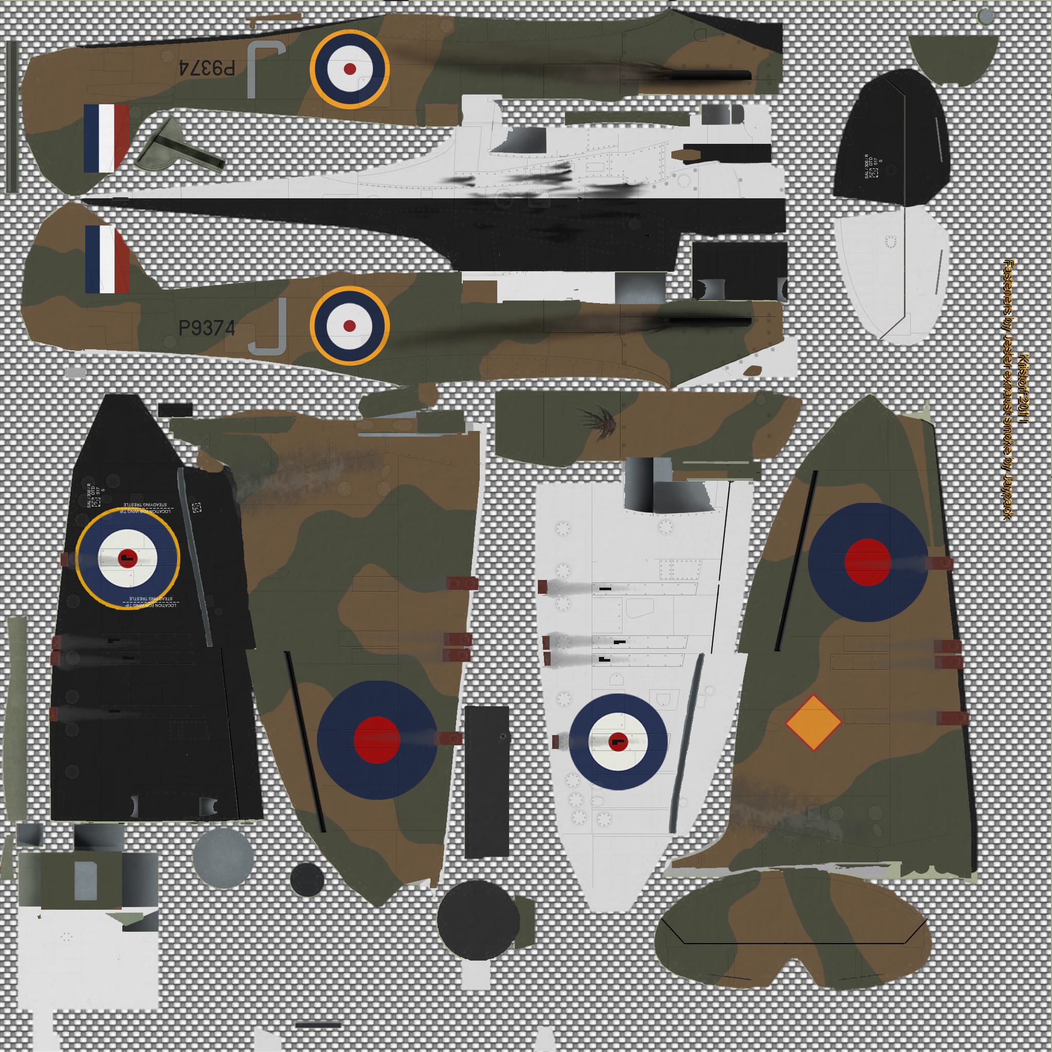 COD KF MkIa RAF 92Sqn GRJ P9374 France May 1940