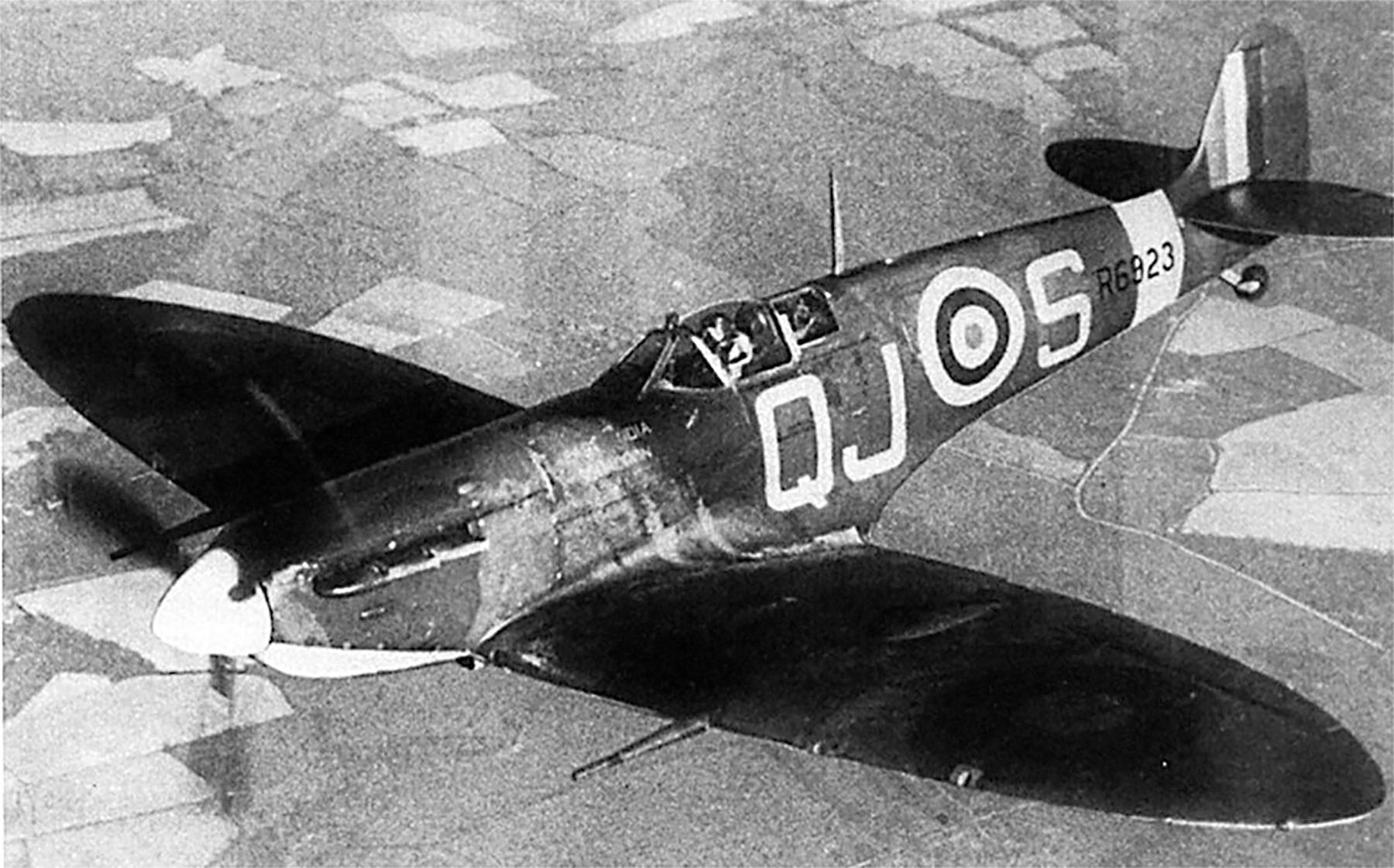 Spitfire MkVb RAF 92Sqn QJS Alan Wright R6923 Biggin Hill May 1941 03