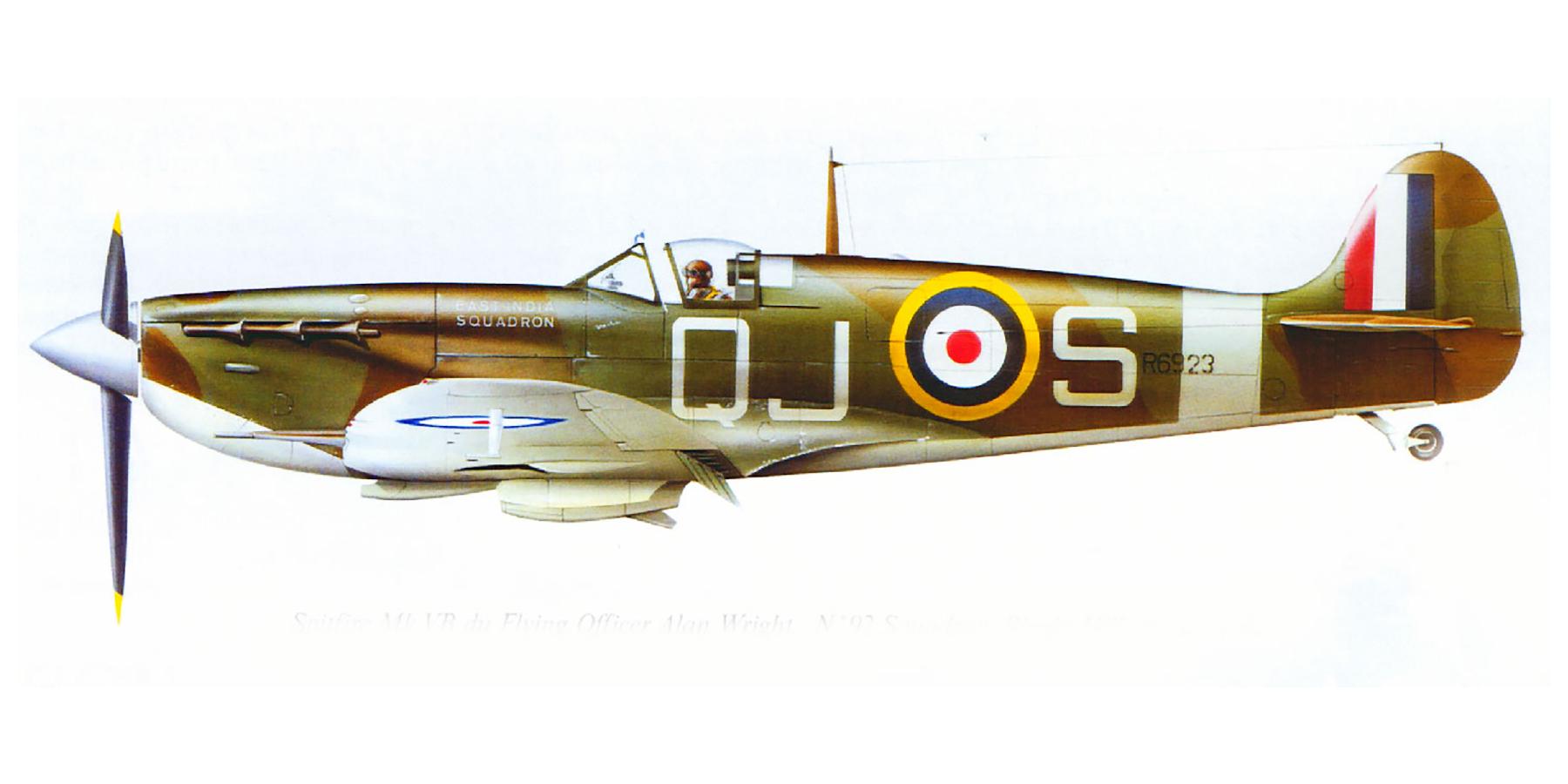 Spitfire MkVb RAF 92Sqn QJS Alan Wright R6923 Biggin Hill May 1941 0A