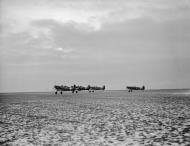 Asisbiz Spitfire Ia RAF 92Sqn QJV QJT QJS QJ taking off from Manston Kent IWM CH2537