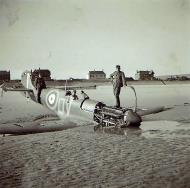 Asisbiz Spitfire MkIa RAF 92Sqn QJ lost over France 01