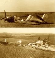 Asisbiz Spitfire MkIa RAF 92Sqn QJZ N3194 sd by Bf 109s near Calais 23rd May 1940 ebay2