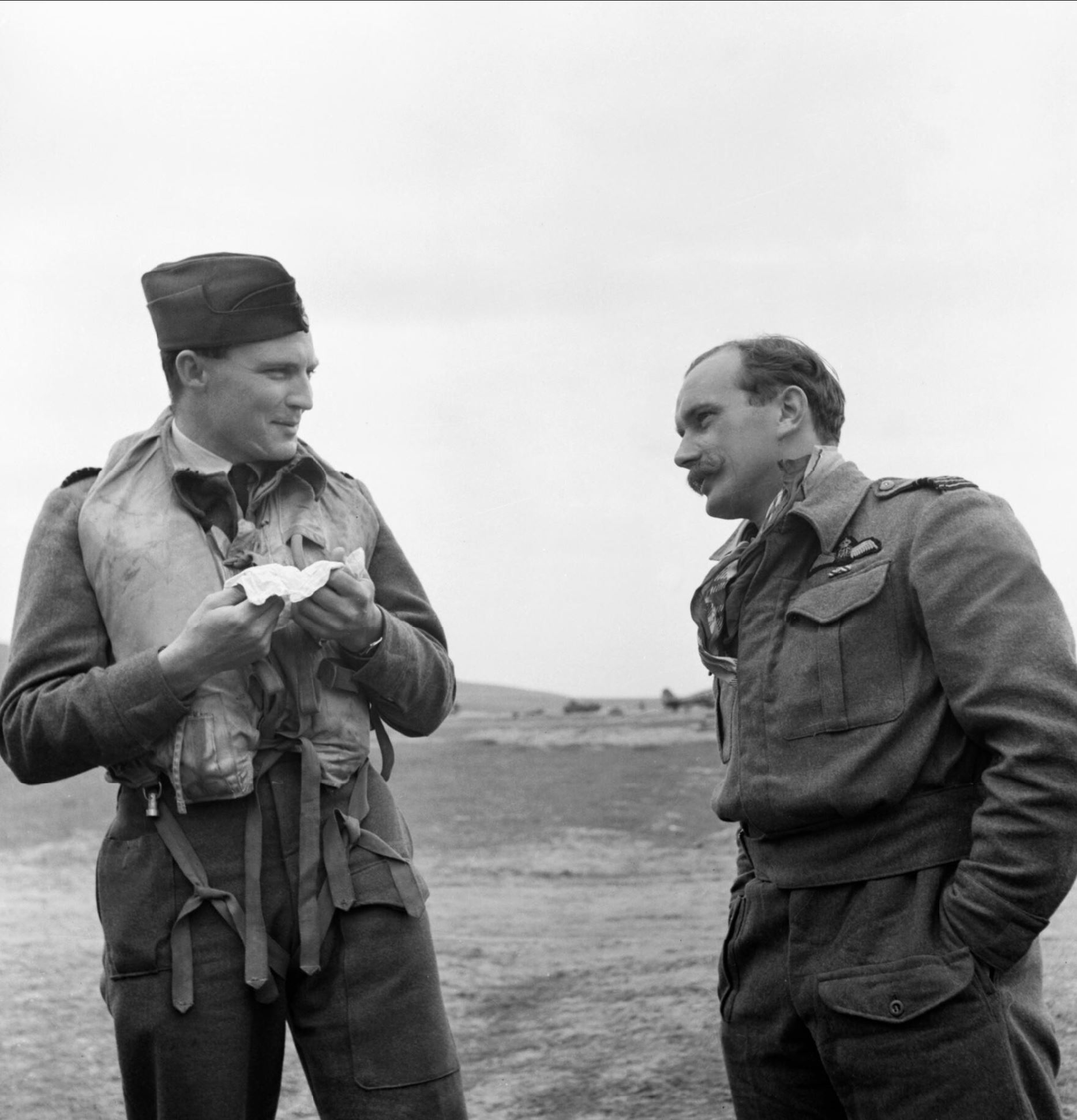 Aircrew RAF 322 Wing Group Capt PH Hugo and Wing Commander R Berry IWM CNA282