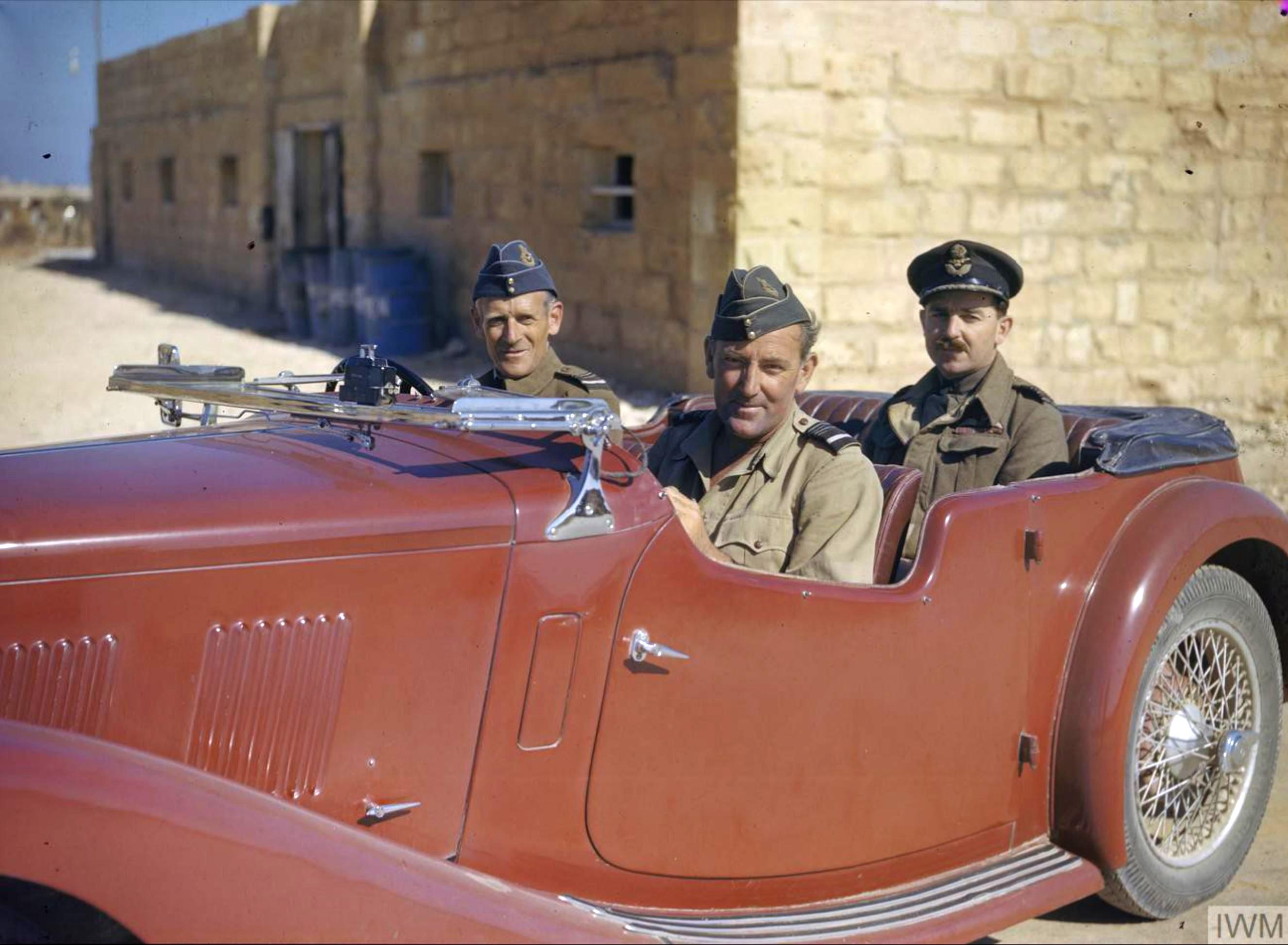 Aircrew RAF Air Vice Marshal Keith Park at Malta Jun 1943 IWM TR1067