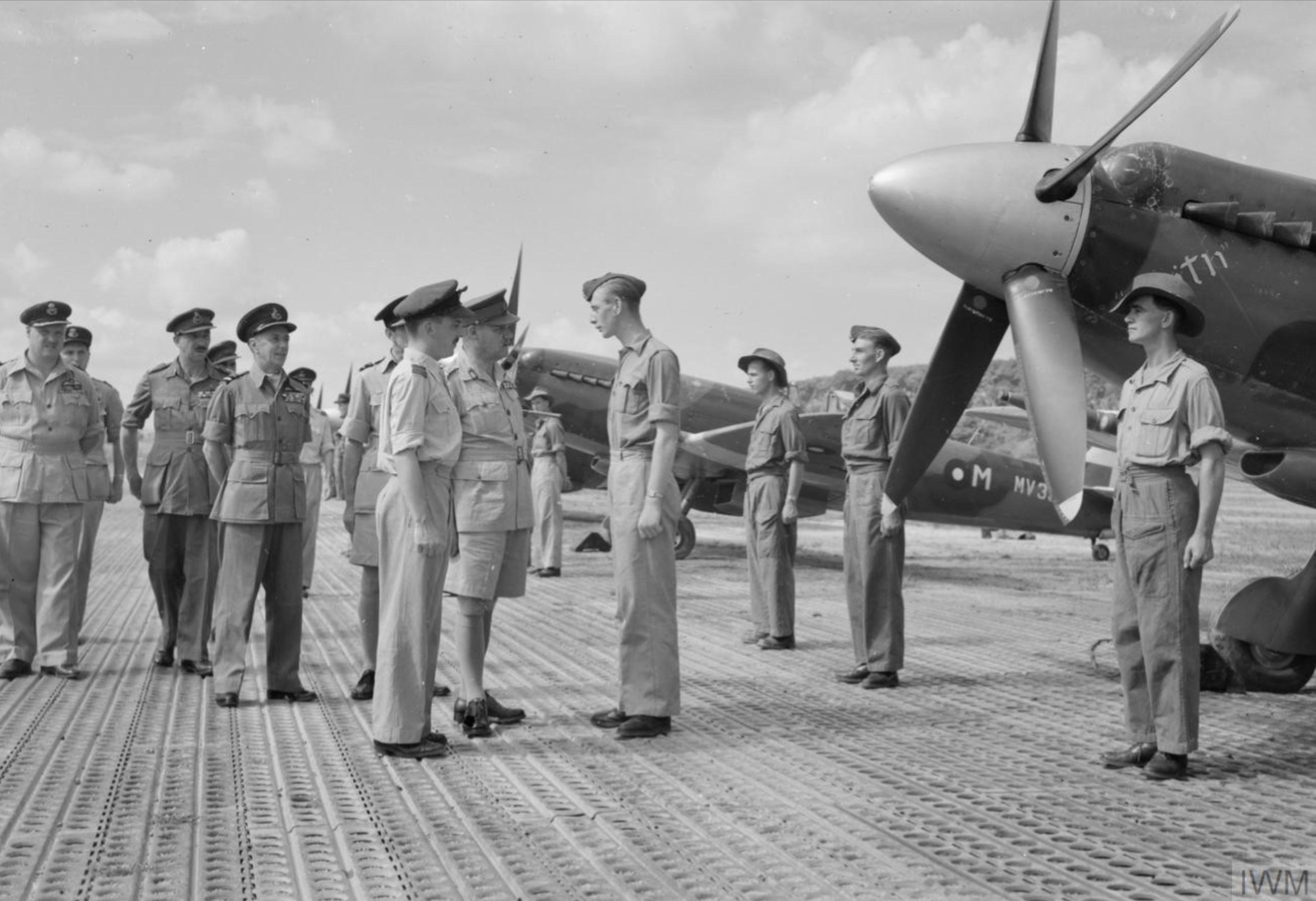 Aircrew RAF at Kuala Lumpur selected to form part of occupation in Japan IWM CF1123