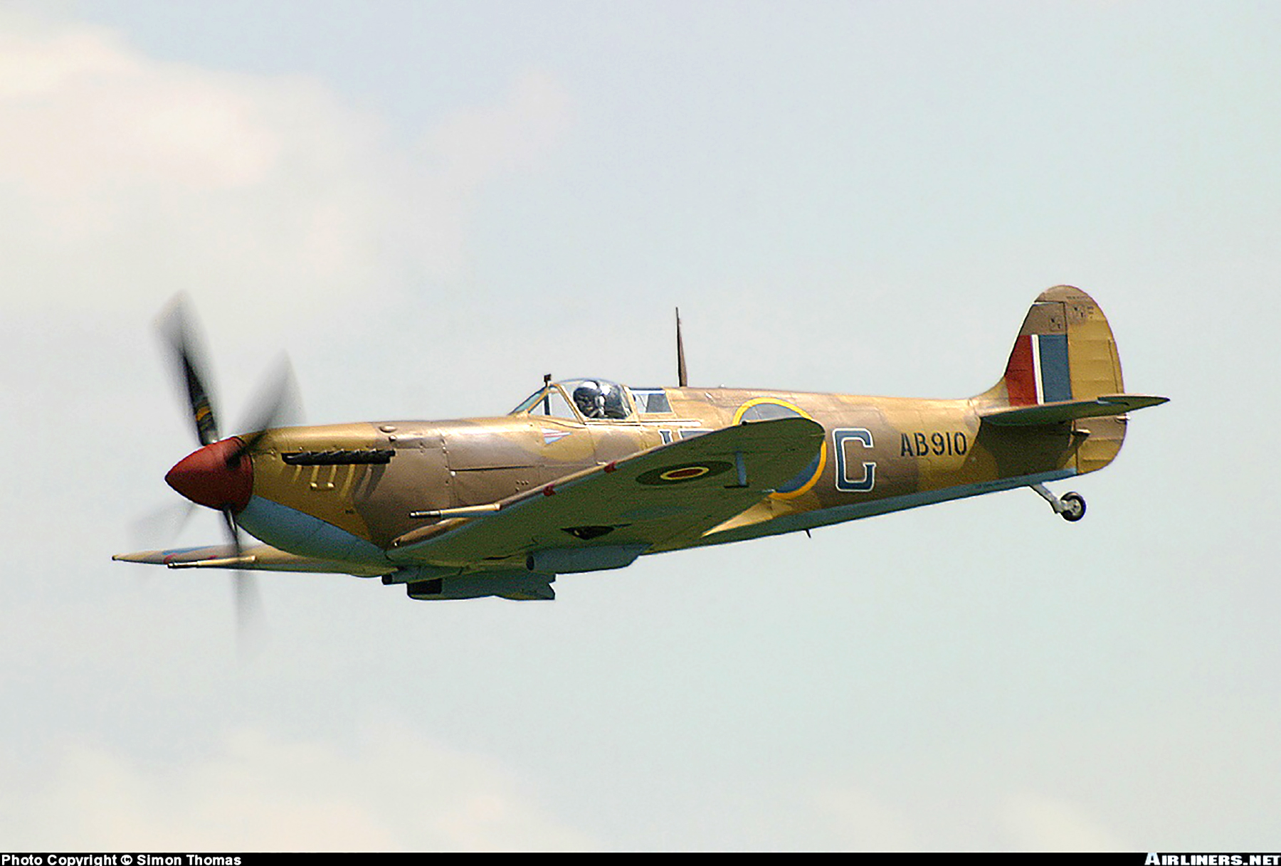 Airworthy Spitfire warbird RCAF 416Sqn IRG AB910 01