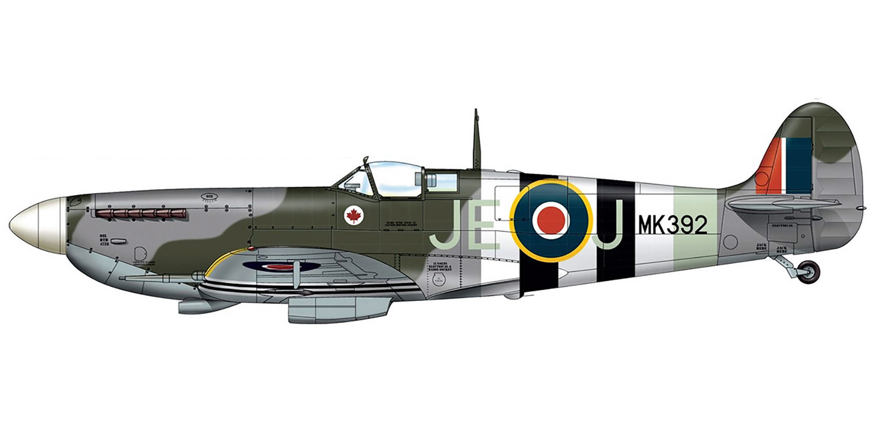 Spitfire LFIX RAF 144 Wing JEJ MK392 Johhnnie Johnson OC MK392 1944 0A