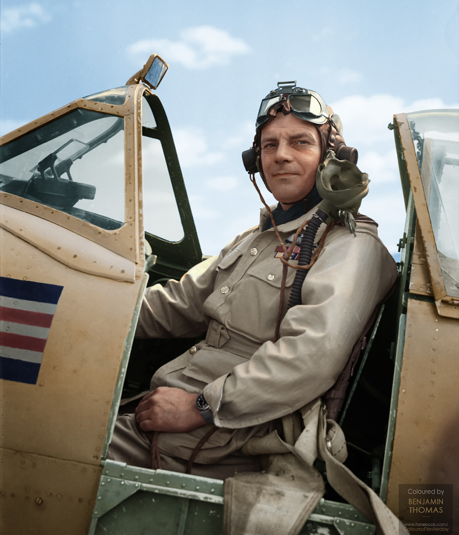 Spitfire LFVIII WFD JF814 Air Vice Marshal William Forster Dickson personal ac Italy 1943 02