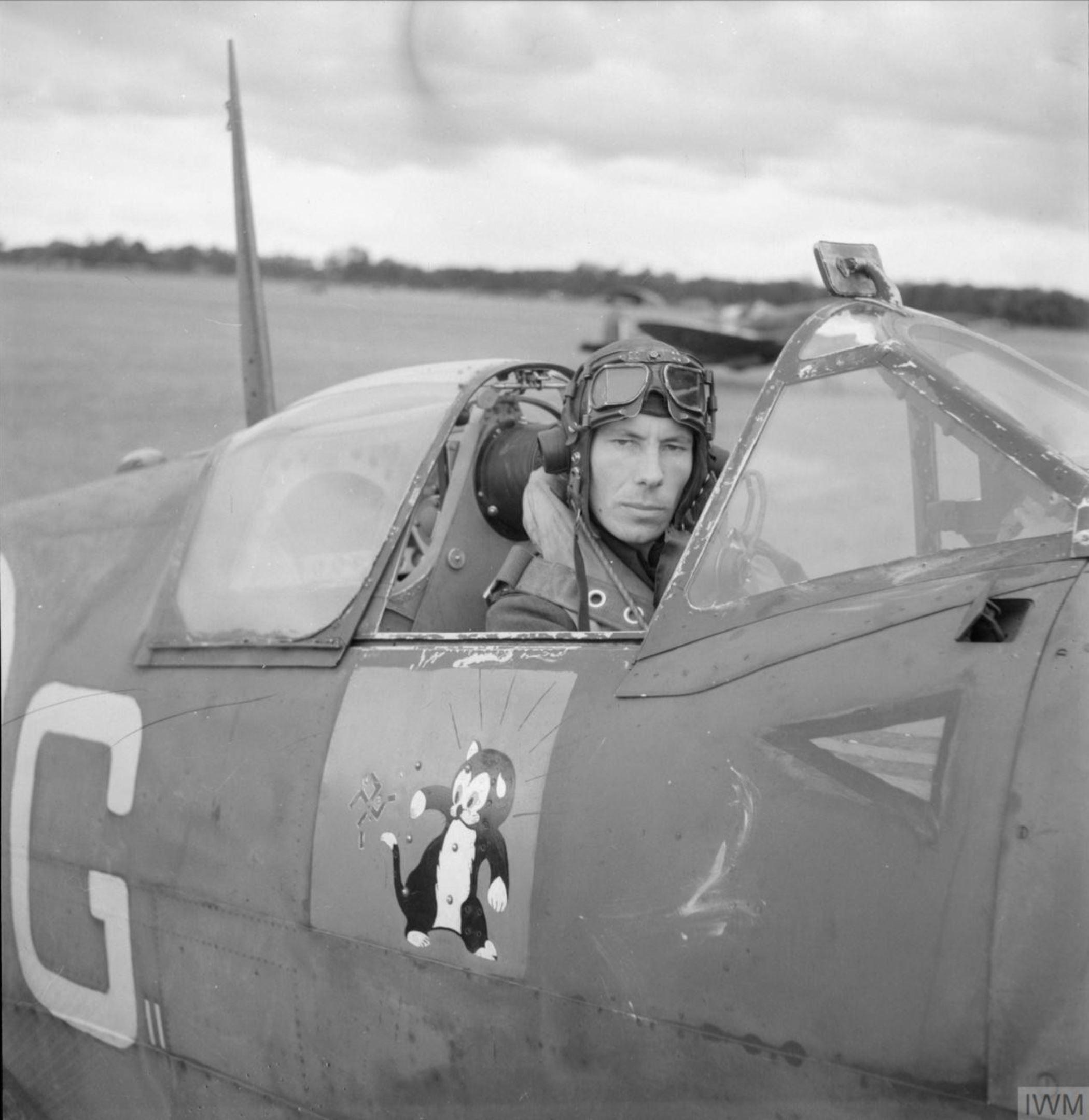 Spitfire MKVb RAF Ibsley Wing RG with IR Gleed at Ibsley Hampshire IWM CH5908