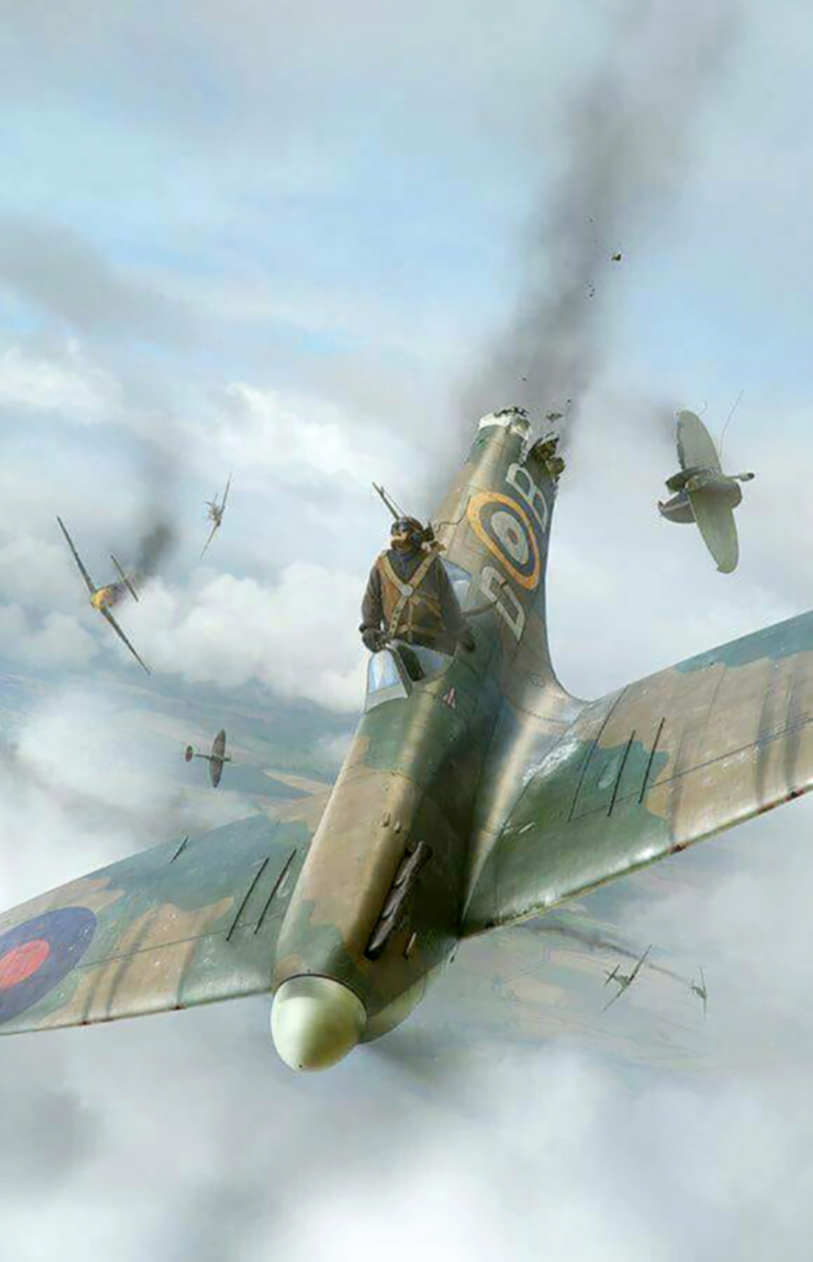 Spitfire MkIa RAF Tangmere Wing DB Douglas Bader Tangmere 1941 0A