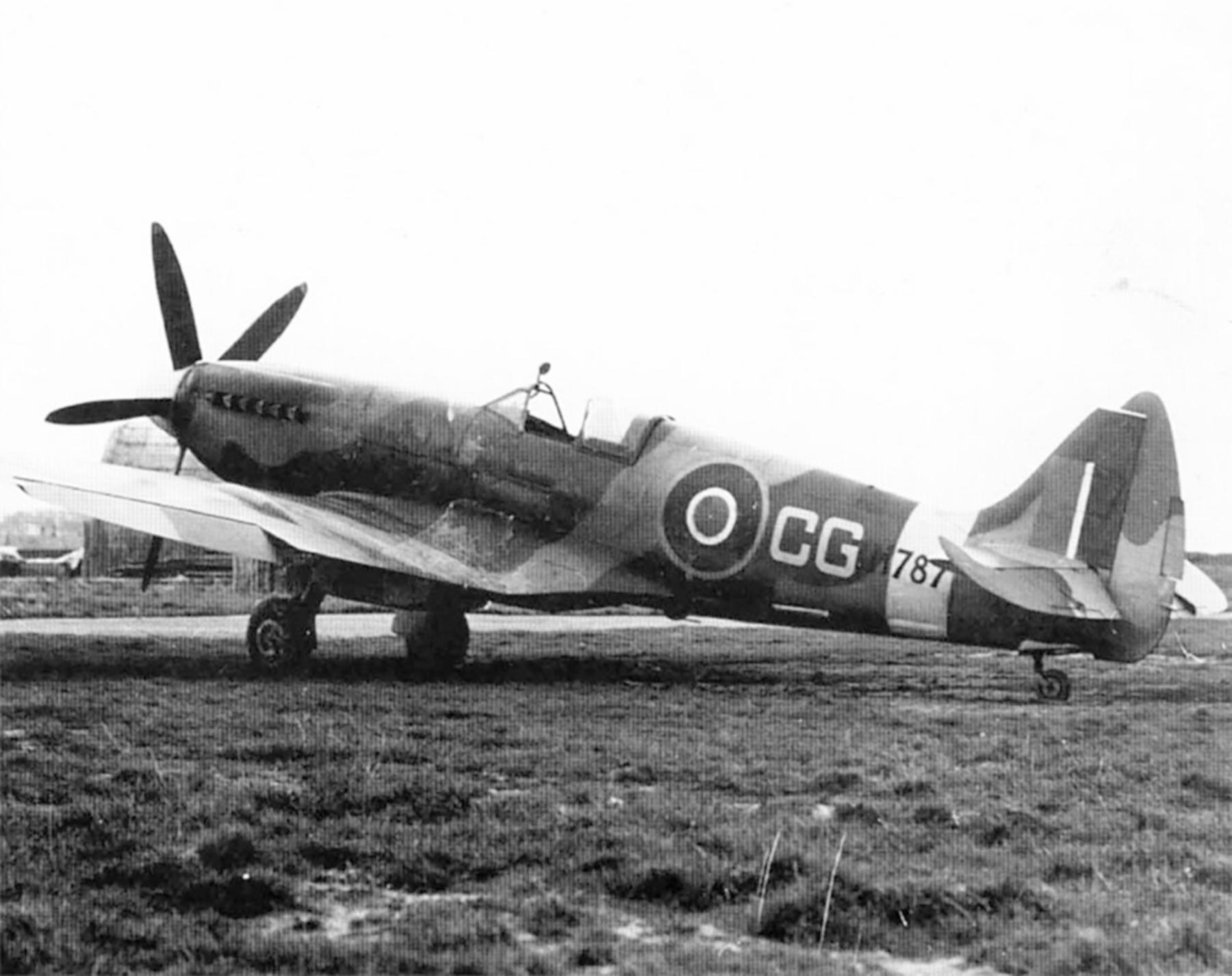 Spitfire XIVc RAF Detling Wing CG Colin Grey RM787 Lympne 1944 02