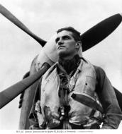 Asisbiz Aircrew RAF Ace Wg Cdr JE Johnnie Johnson DSO DFC with Spitfire MkIX JEJ Normandy 1944 01