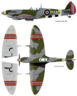 Asisbiz Spitfire LFIX RAF 132FW Norwegian RAB PV181 profile by Bjornar Noras 0A