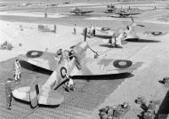 Asisbiz Spitfire MkVb RAF 322 Wing C ES187 and T ES191 at Tingley Algeria IWM CNA278