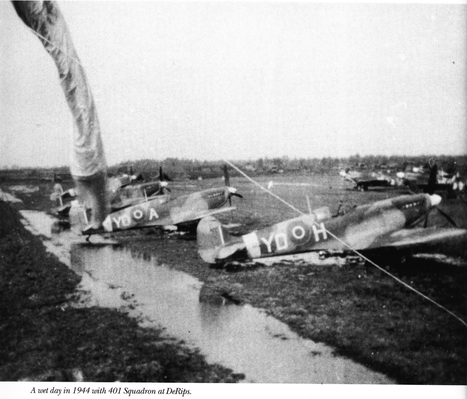 Spitfire LFIX RCAF 401Sqn YOH with YOA DeRips 1944 01