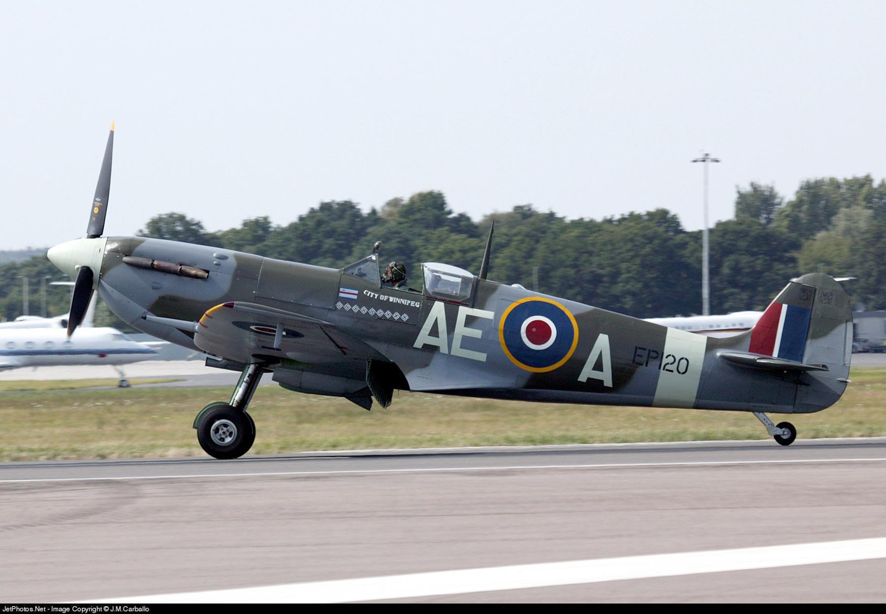 Airworthy Spitfire warbird LFVb RCAF 402Sqn AEA EP120 02