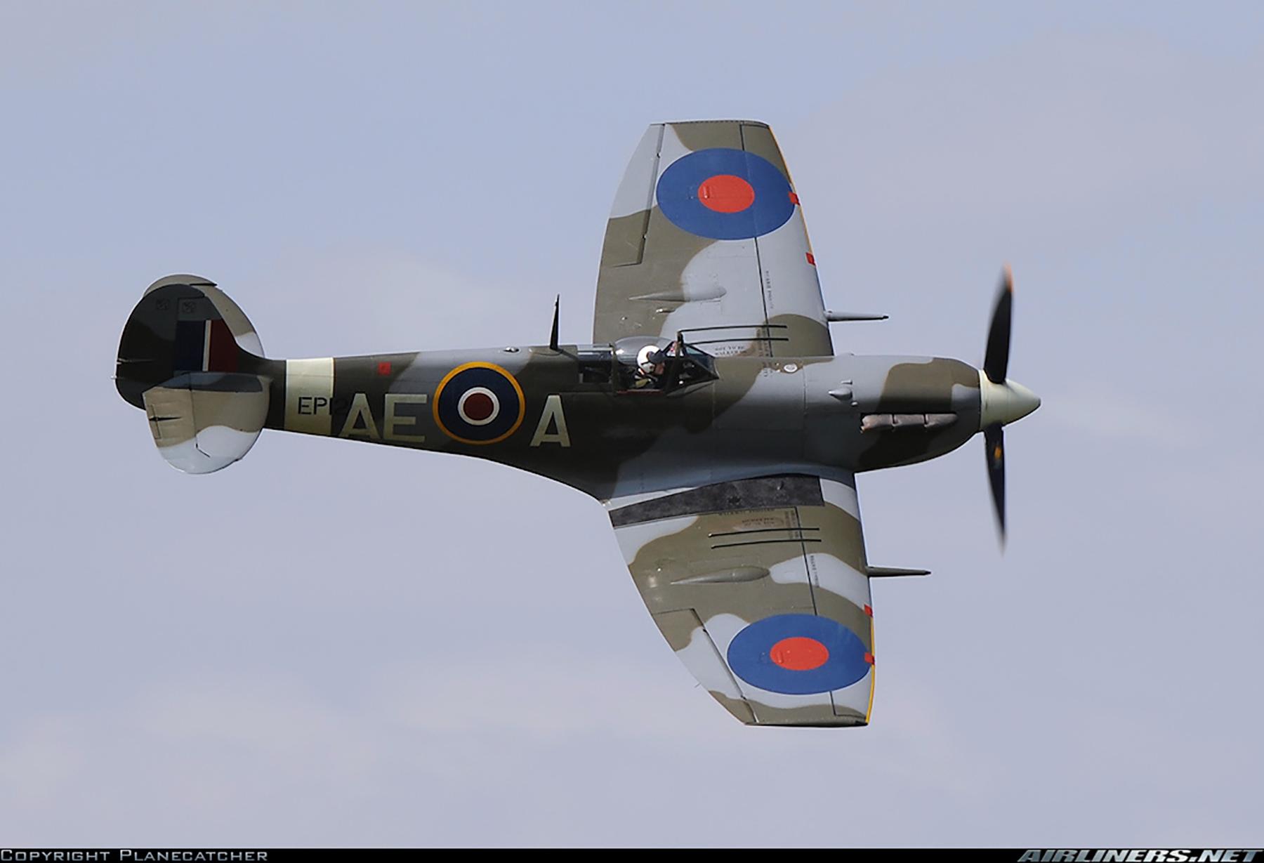 Airworthy Spitfire warbird LFVb RCAF 402Sqn AEA EP120 12
