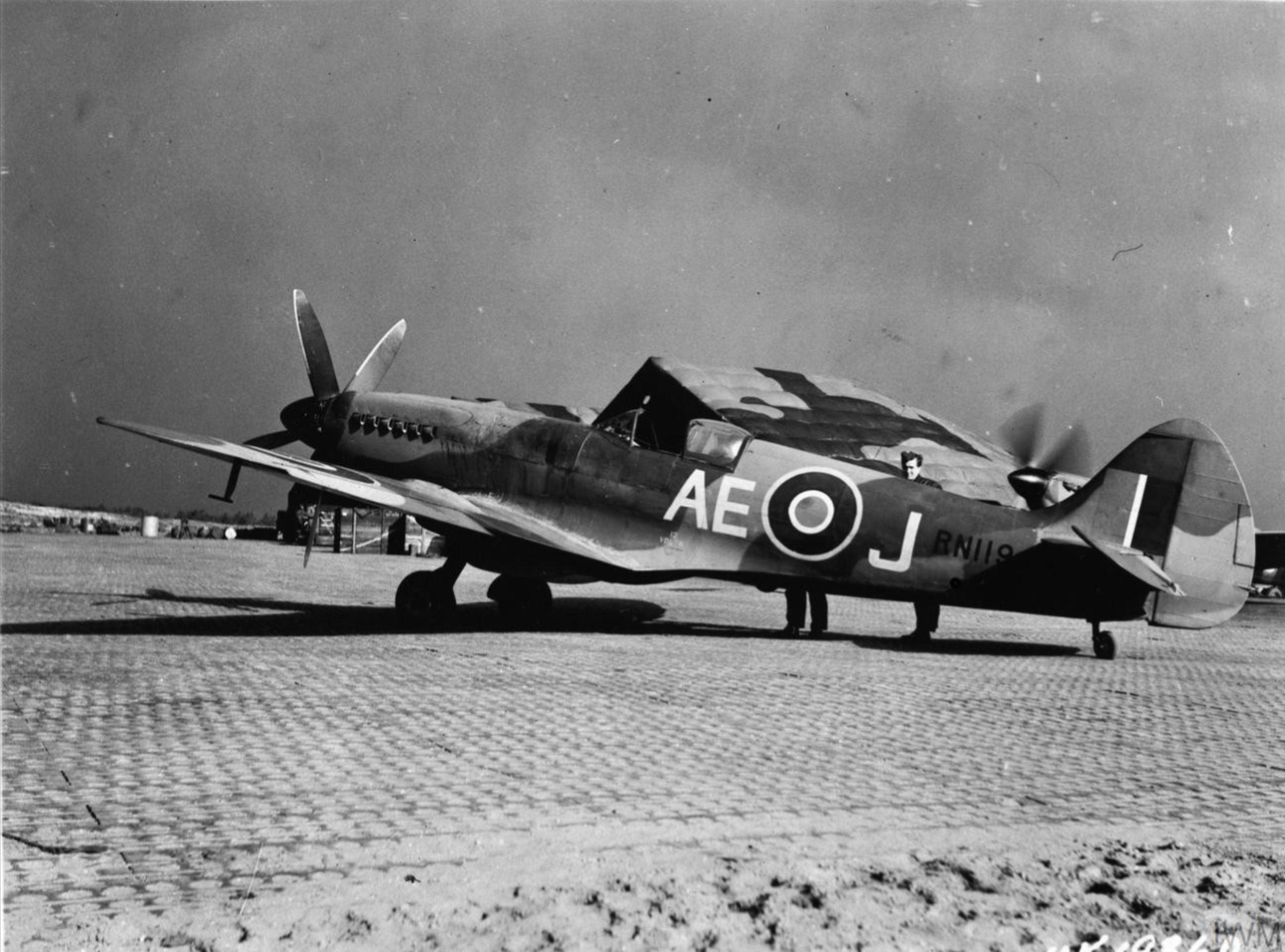 Spitfire FXIV RCAF 402Sqn AEJ RN119 at B88 Heesch Holland IWM MH6855