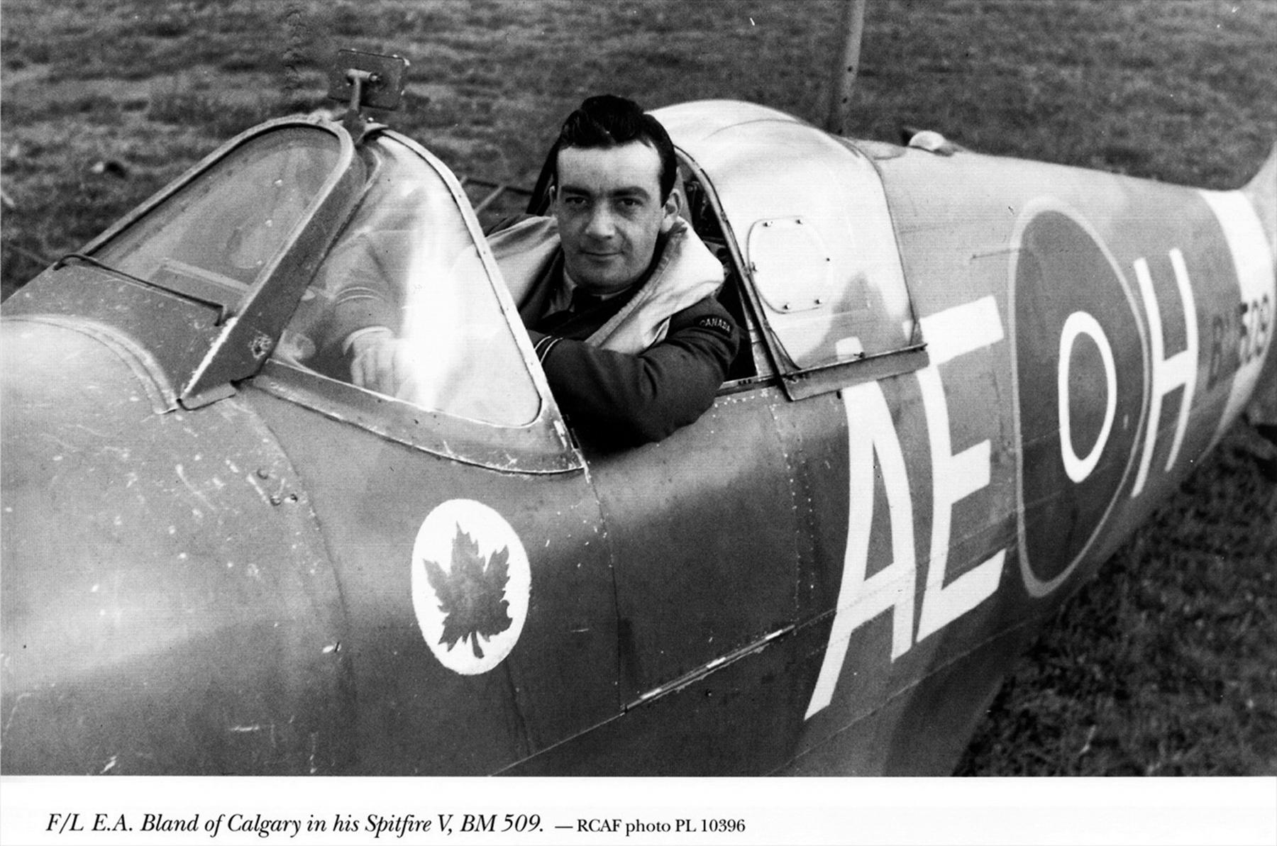 Spitfire MkVb RCAF 402Sqn AEH EA Bland BM509 May 1942 01