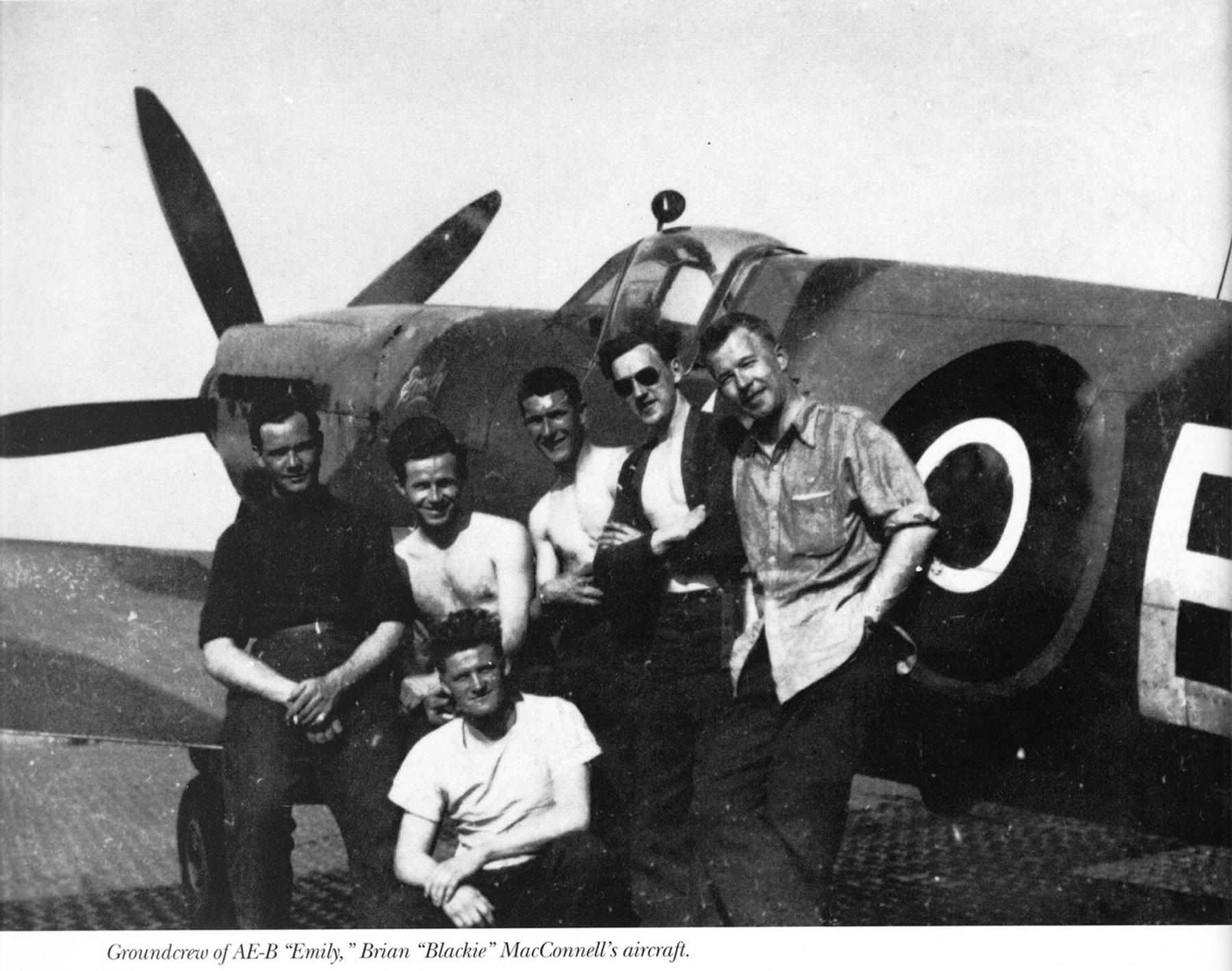 Spitfire XIV RAF 402Sqn AEB Brian MacConnell 1945 01