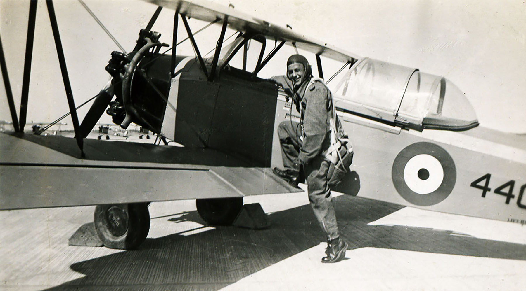 Aircrew RCAF 412Sqn Griffin Young during training 01