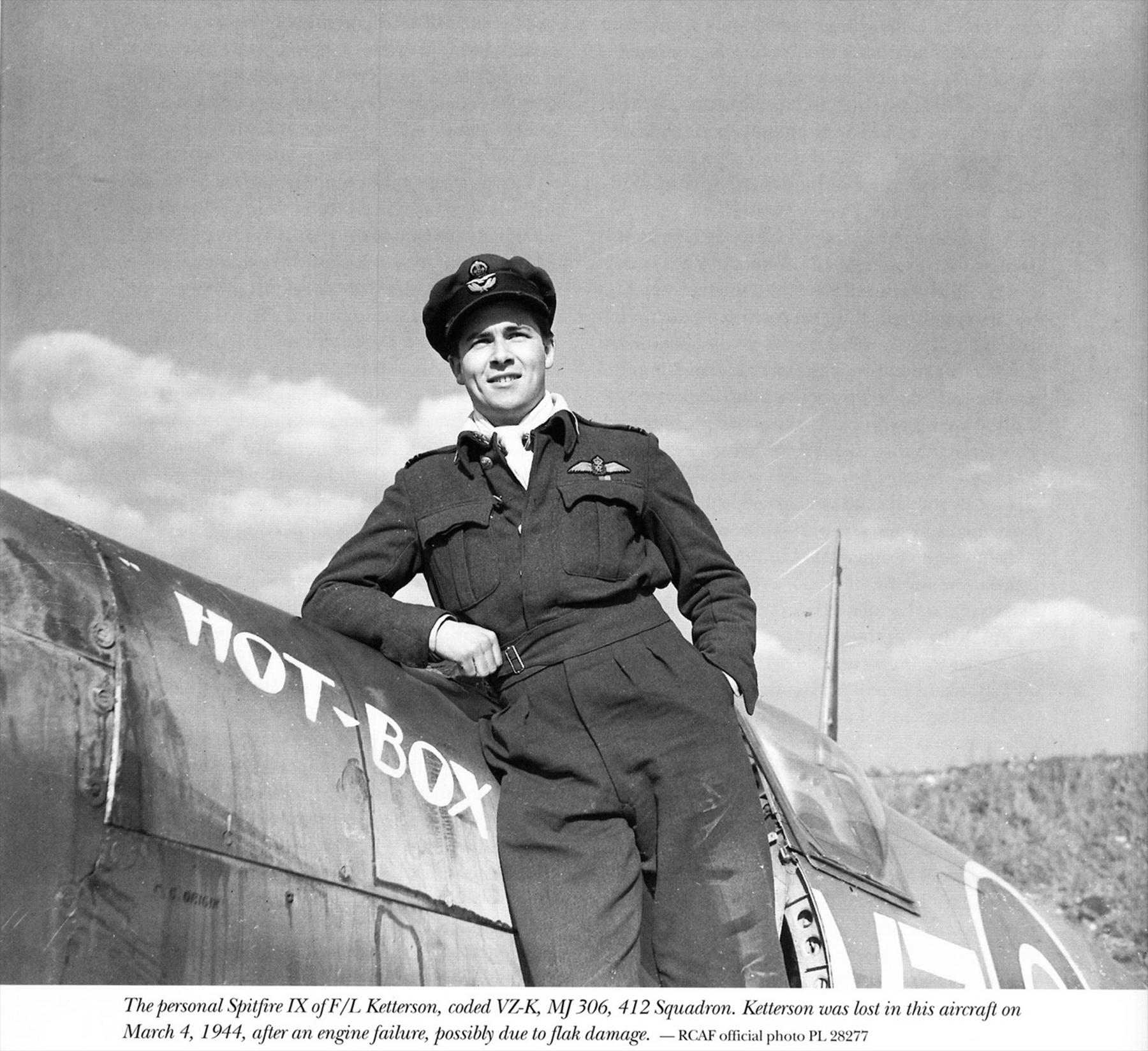 Spitfire LFIX RCAF 412Sqn VZK BW Ketterson MJ306 1944 01