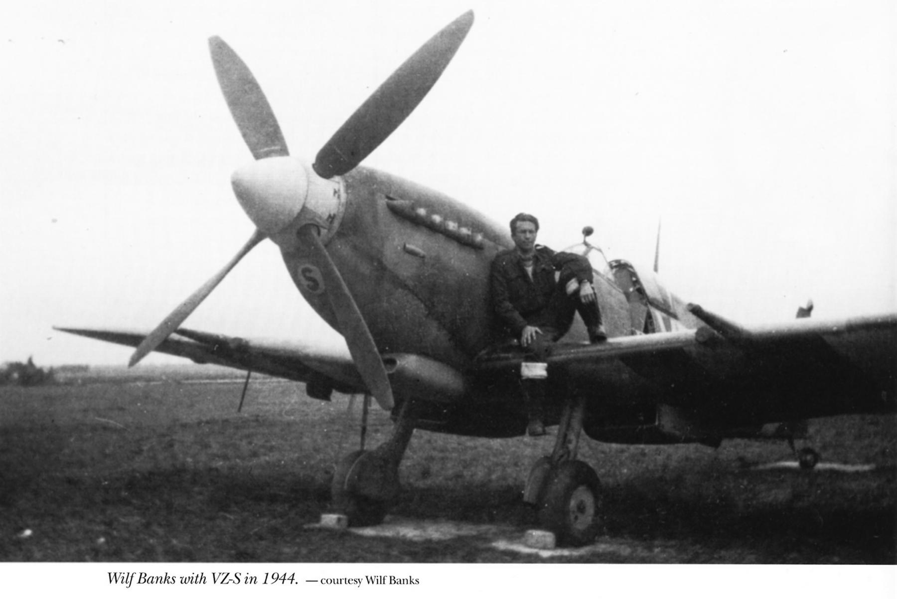 Spitfire MkIX RCAF 412Sqn VZS Wilf Banks France 1944 01