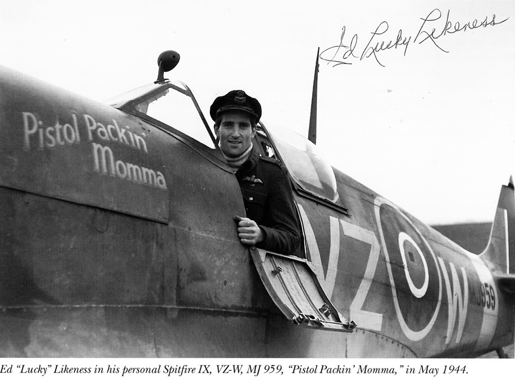Spitfire MkIX RCAF 412Sqn VZW Ed Likeness MJ959 May 1944 01