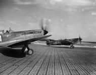 Asisbiz Spitfire MkIXe RCAF 412Sqn VZW taxing at B108 Rheine Germany 1945 IWM MH6850