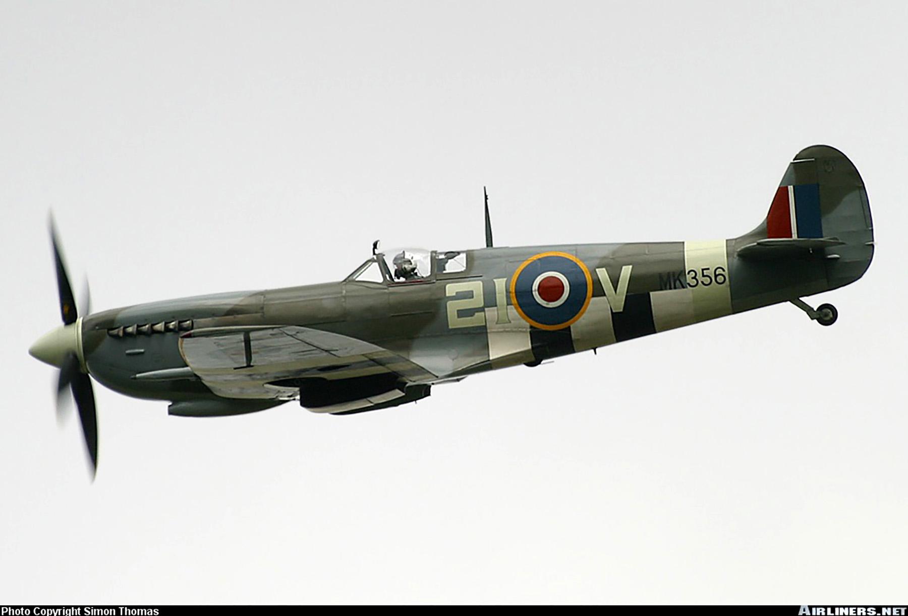 Airworthy Spitfire warbird MkIXe RCAF 443Sqn 2IV MK356 06