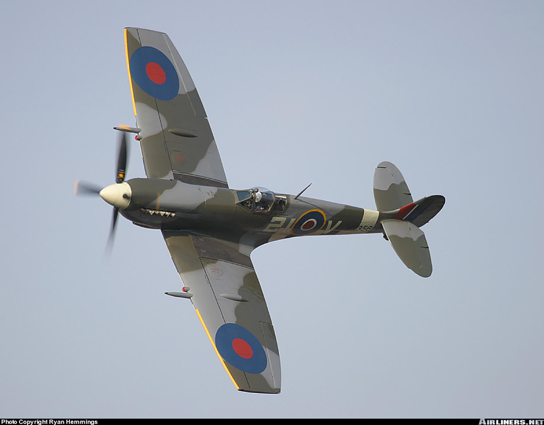 Airworthy Spitfire warbird MkIXe RCAF 443Sqn 2IV MK356 11